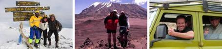 Tourists on Kilimanjaro and on Safari