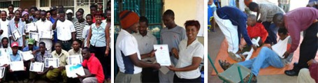 Certificates for attendance of English course and First-aid course; First aid Course