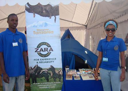 ZARA stand at Karibu show 2008 Arusha