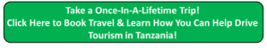 Once in a Lifetime Trip in Tanzania with Zara Tours